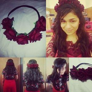CCO RosesHeadband BohoGothicFairy Princess Beauty!